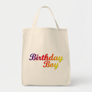 Birthday Boy Grocery Tote Bag