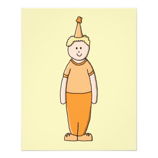 Birthday Boy, in Orange. 11.5 Cm X 14 Cm Flyer