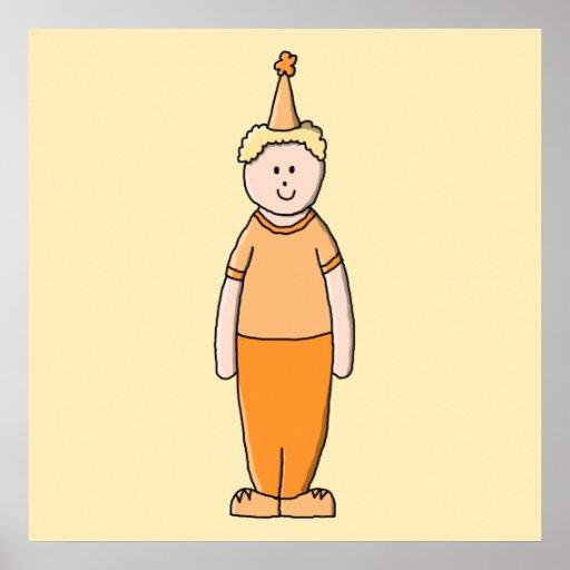 Birthday Boy, in Orange. Print