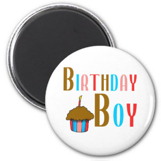 Birthday Boy Multicolored Products Refrigerator Magnet