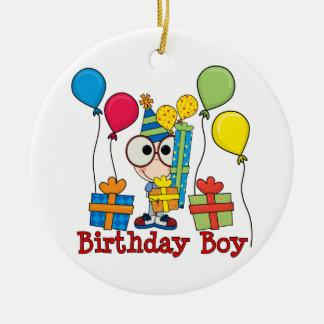 Birthday Boy Round Ceramic Decoration