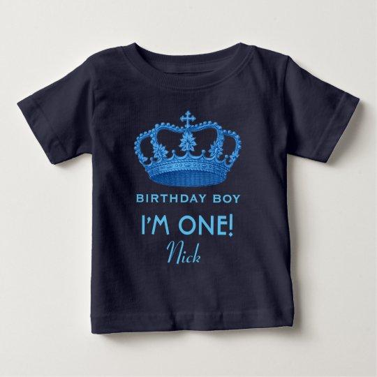 Birthday Boy Royal Prince Crown One Year Old
