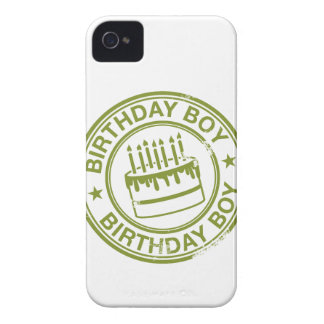 Birthday Boy -rubber stamp effect- green iPhone 4 Case-Mate Case