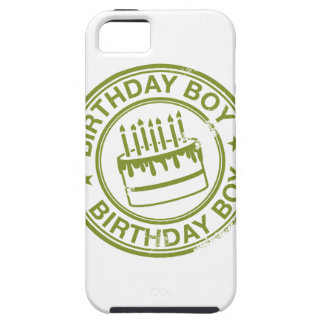 Birthday Boy -rubber stamp effect- green iPhone 5 Cases