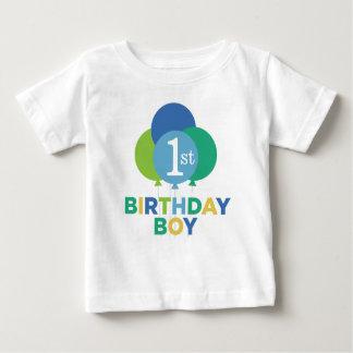 Birthday Boy Shirt   Blue Green Balloons