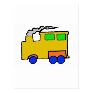 Birthday Boy Train Art Postcard