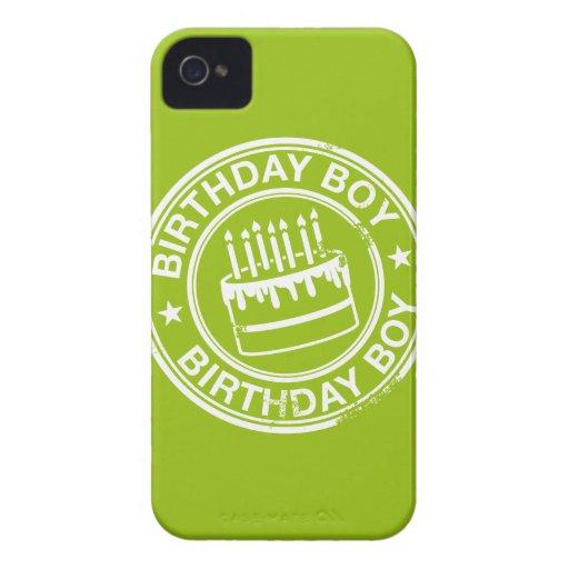 Birthday Boy -white rubber stamp effect- Blackberry Bold Case