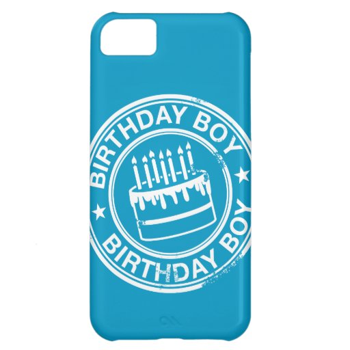 Birthday Boy -white rubber stamp effect- Case For iPhone 5C