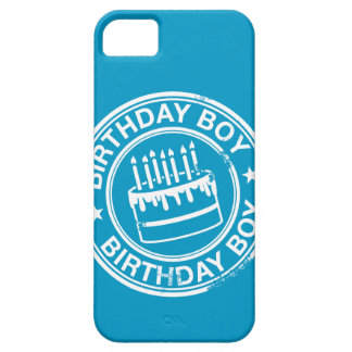 Birthday Boy -white rubber stamp effect- iPhone 5 Case