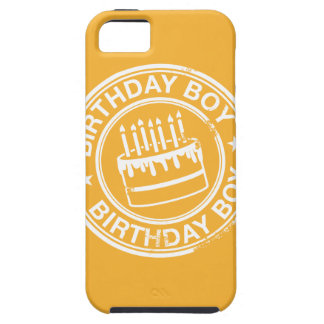 Birthday Boy -white rubber stamp effect- Case For The iPhone 5