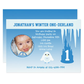 Birthday Boy Winter Onederland invitation
