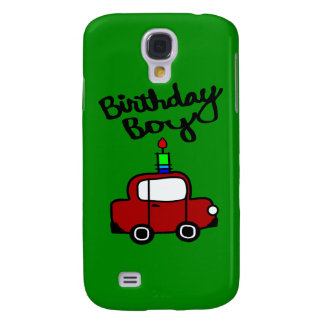 Birthday Boy With Candle And Red Car Galaxy S4 Case