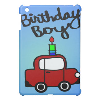 Birthday Boy With Candle And Red Car iPad Mini Cover