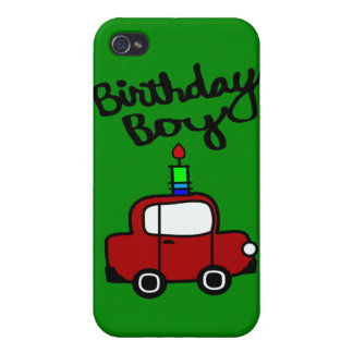 Birthday Boy With Candle And Red Car iPhone 4 Cases