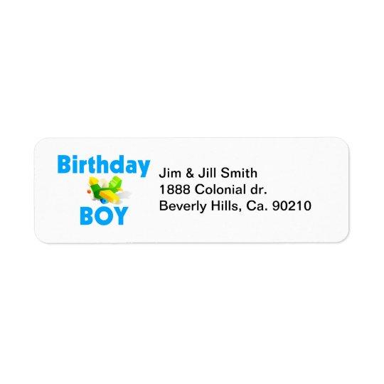 Birthday Boy With Toy Aeroplane