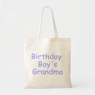 Birthday Boy's Grandma Budget Tote Bag