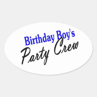 Birthday Boys Party Crew Stickers