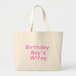 Birthday Boy's Wifey Tote Bags