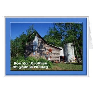 Birthday - Brother Old Virginia Barn Card