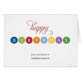 Birthday Bubbles Business Birthday Cards