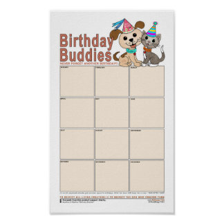 Birthday Buddies Poster