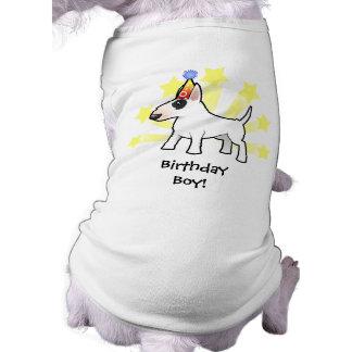 Birthday Bull Terrier Sleeveless Dog Shirt