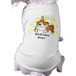 Birthday Bulldog Sleeveless Dog Shirt