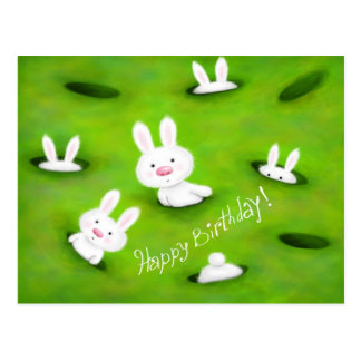 Birthday bunnies postcard