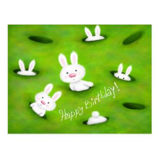 Birthday bunnies postcard