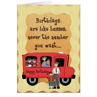 Birthday Bus Card