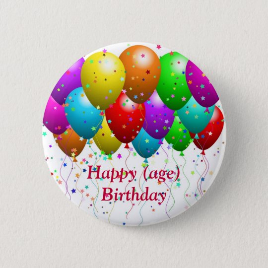 Birthday Button for matching card - customisable