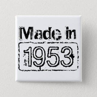 Birthday button with custom stamped birth year