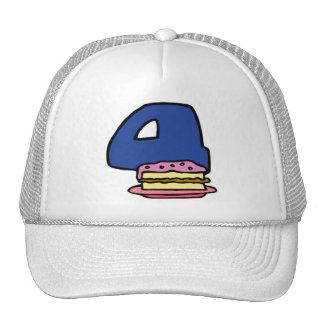 Birthday Cake 4th Birthday Gifts Trucker Hat
