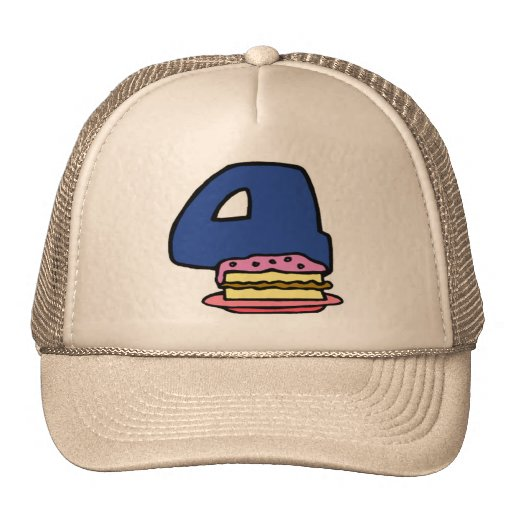 Birthday Cake 4th Birthday Gifts Hat