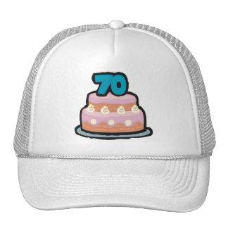 Birthday Cake 70th Birthday Gifts Trucker Hat
