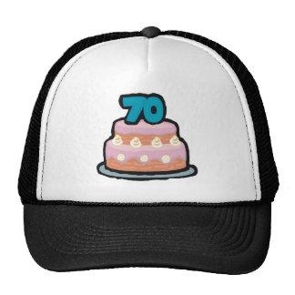 Birthday Cake 70th Birthday Gifts Cap