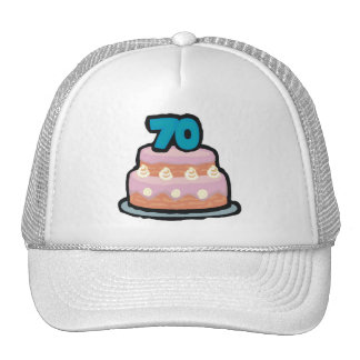 Birthday Cake 70th Birthday Gifts Mesh Hat