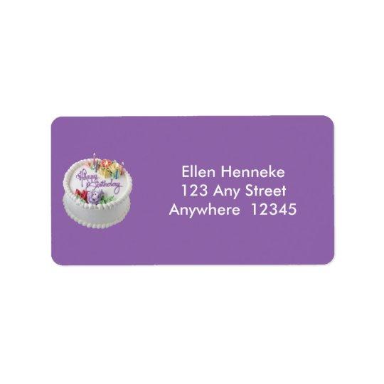 Birthday Cake Address Label