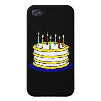 Birthday Cake and Candles Case For iPhone 4