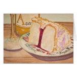 Birthday Cake and Wine Greeting Card