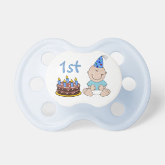 Birthday Cake Baby Boys Blue First Birthday Dummy