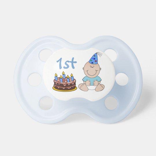 Birthday Cake Baby Boys Blue First Birthday Dummy