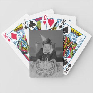 Birthday Cake Bicycle Playing Cards