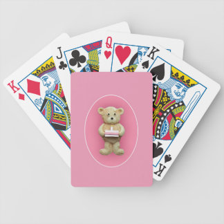 Birthday Cake Bicycle Playing Cards