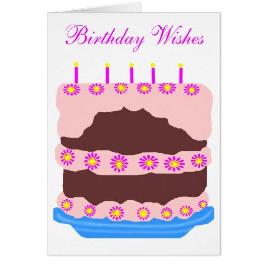 Birthday cake, Birthday Wishes card