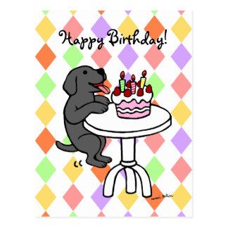 Yellow Labrador Birthday Cake Cartoon