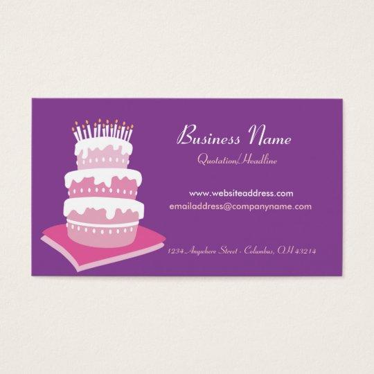 Birthday Cake Business Cards