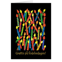 Swedish birthday cards invitations zazzle birthday cake candles card swedish greeting card bookmarktalkfo Choice Image