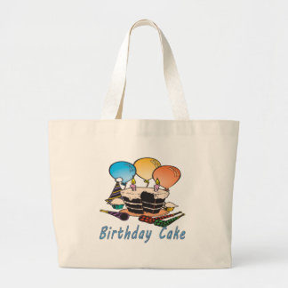 Birthday Cake Canvas Bags