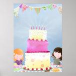 Birthday cake fun - poster print